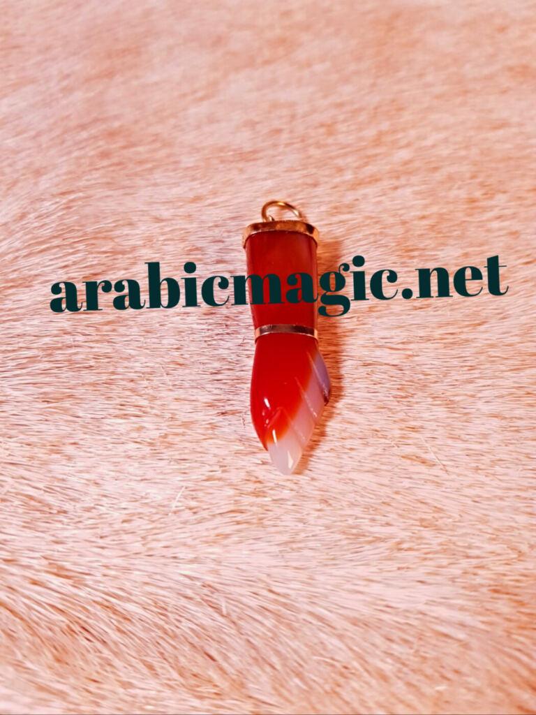 Carnelian Figa Fist pendant amulet for protection